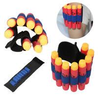 2pcs Ammo EVA Bullet Dart Holder Elastic Wrist Strap Band For Nerf N-strike CN