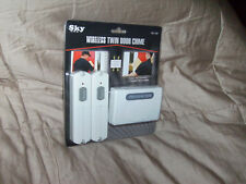Wireless Twin Door Chime.(2)Transmitters & Receiver Unit With (24)Melodies.New