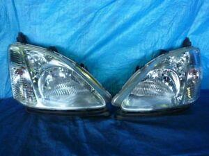 JDM 2000 Honda Civic EU EU1 EU3 Halogen Headlights Lights Lamps Set OEM