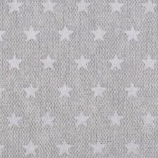Stoff Baumwolle beschichtet Swafing Pebbles weiße Sterne grau 160 Cm