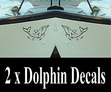DOLPHIN Decals x 2  for  Boat/Car etc / Stickers / Graphics