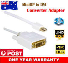 Mini DisplayPort MiniDP to DVI Adapter Cable Cord Full HD 1080p Gold Plated AU