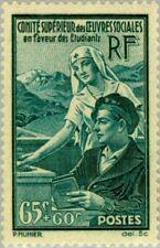 EBS France 1938 Students' Social Welfare Organization YT 417 MH* cv $14.00
