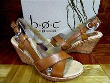 b.o.c. Born Concept Women's Kelly Tan Wedge Sandals Size 9M