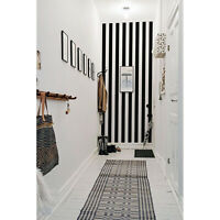 Stripe Black and White Pattern removable wallpaper Wall Mural Decal