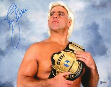 Ric Flair Signed 11x14 Photo BAS Beckett COA WWE Picture w/ Winged Eagle Belt