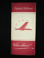 Capital Airlines 1949 Packet Brochure Postcard Sticker