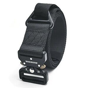 Winchester Mens Tactical Belt, Nylon Webbing Waist Belt with V Ring Heavy Duty