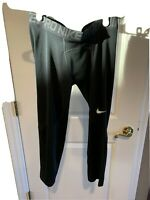 Nike Pro Boys Teen Youth L Large Compression Pants Black Tights