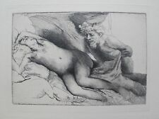 REMBRANDT Amand Durand Signed Etching JUPITER AND ANTIOPE, THE LARGER PLATE
