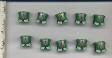 LEGO x10 Green Minifig, Armor Breastplate with Leg Protection Rascus Gold Monkey