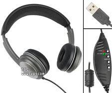 ECS OHUSB WordSlinger Deluxe Overhead USB Transcription Headset - Refurbished