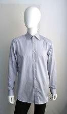 BOSS SELECTION BRAND NEW WHITE & BLUE DRESS SHIRT SIZE 15.5 MSRP $ 295.00