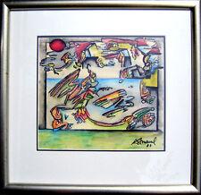 1985 ANTONIO HENRIQUE AMARAL oil pastel MIXED MEDIA Sao Paulo Brazil PAINTING