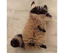 Raccoon Natural Brush Christmas Tree Ornament