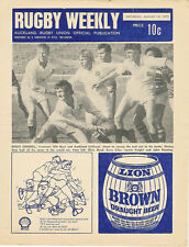 Auckland rugby hebdomadaire 19 Aug 1972 NZ MAG programme Univeristy grammaire ma...