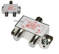 Splitter Sdoppiatore Segnale TV Coassiale 1 IN 2 OUT Antenna Digitale Terrestre