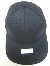 VINTAGE STRUCTURED DARK NAVY HAT CAP 6 3/4 SMALL FITTED MADE IN USA  (NS2)
