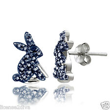 DIAMANTE BLU argento sterling PASQUA Orecchini Year of the Coniglio Lepre