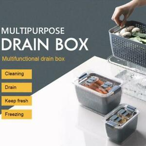 3-In-1 Multifunctional Foldable Storage Box Partitions Drainage Fresh Keeping