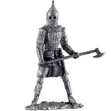 Heavy Russian warrior. Tin toy soldiers.54mm miniature figurine. metal sculpture