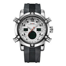 WEIDE 5205 Luxury Dual Display Men Watch Silicone Strap Sport Watch