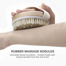 Exfoliation Spa Bristles Body Massage Reducing Cellulite Round Shower Brush
