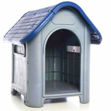 All Weather Doghouse Puppy Shelter Pet Dog House Portable Waterproof (Blue)