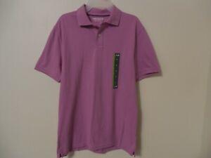 NWT Mens Polo Shirt size Small Orchid short sleeve top John Bartlett Consensus