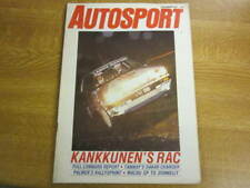 December 3rd 1987, AUTOSPORT, Juha Kankkunen, Saab 9000CD, Richard Lloyd.
