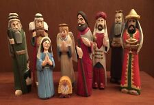 Midwest Cannon Falls Large 8 Piece Nativity Set with homemade Baby Jesus