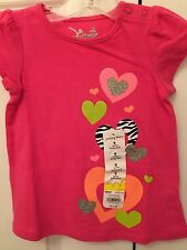 NEW! Jumping beans Infant Girls 9 Months Babydoll Top Shirt Sparkle Hearts NWT