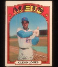 CLEON JONES 1972 TOPPS Autographed Signed AUTO Baseball Card METS 31