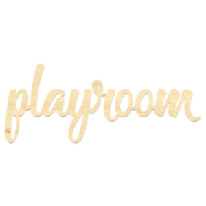 Playroom Sign-Wooden Playroom Wording