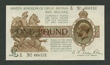 Inglaterra KGV Fisher £ 1 1919 T24 AUNC billetes