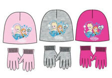 Official Disney Frozen Knitted 2 Piece Set Hat Winter and Gloves Girls