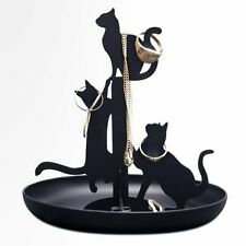 Kikkerland Black Cats Ring & Jewelry Holder / Stand