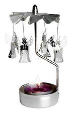 dotcomgiftshop Spinning Silver Angels T-light Holder