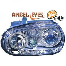 RHD LHD Projector Headlights Pair Angel Eyes Chrome H7 H7 H3 For VW Golf IV