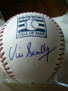 Vin Scully HOF Official MLB SIGNED Brooklyn LA Dodgers Authenticated Baseball