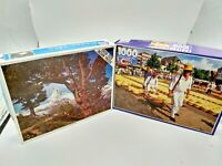 Two  1000 Piece Jigsaw Puzzles - Canada Games  & Western Publishing