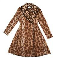 Celine - Phoebe Philo - New - Leopard Print Mohair Coat - Brown US 00 - 36