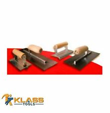 4 Piece Concrete Trowel Set with Edger, Groover & Finishing Tools by KlassTools