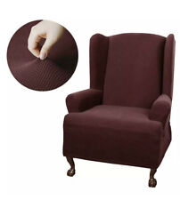 NEW Maytex Smart Cover Wing Chair Slipcover Stretch Maroon 1 Piece Fits Most