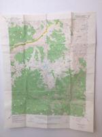 Vintage Original Topo Map Marion Peak California Kings Canyon NP USGS Chart 50s