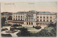 2758 AK Königsberg in Ostpreußen Universität mit Reiterdenkmal 1906 coloriert