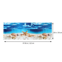 Aquarium Hintergrund Wandbild Bild Kunst Aufkleber Aquarium Aufkleber für Dekor