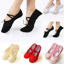 Womens Adult Ballet Dance Shoes Slippers Pointe Gymnastics Canvas Yoga Gym Shoes