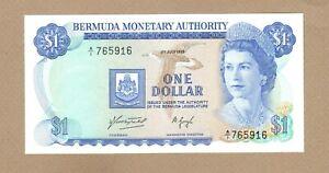 BERMUDA: 1 Dollar Banknote,(UNC),P-28a,01.07.1975,No Reserve!