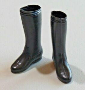 Vintage Doll Action Figure Plastic Boots  Accessory Knee High Flat Boots 8443
